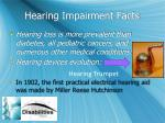 hearing impairment facts