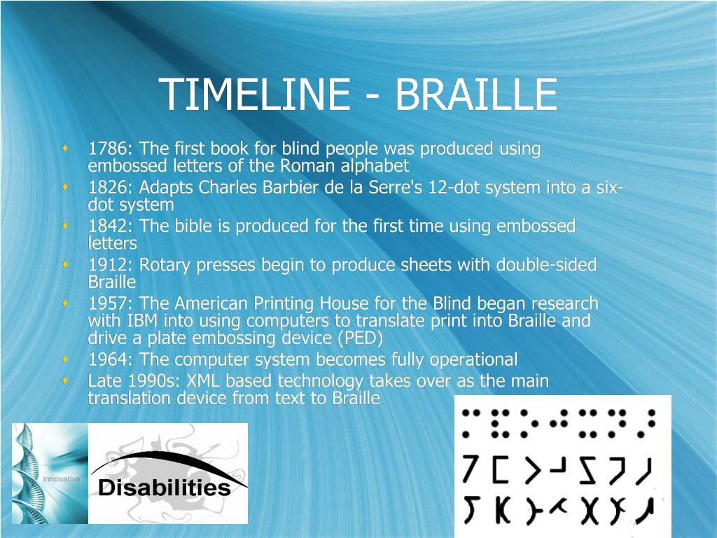 TIMELINE - BRAILLE