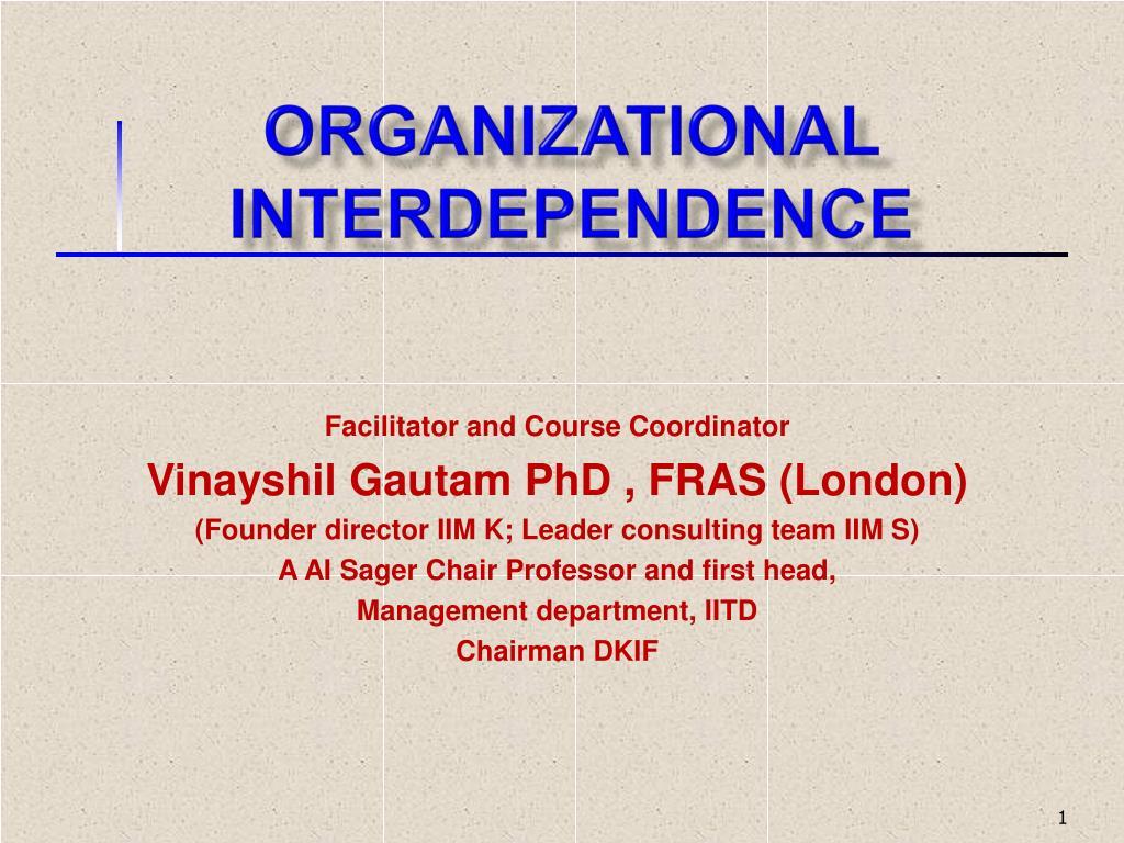 organizational interdependence l.