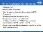 ast training programmes and activities