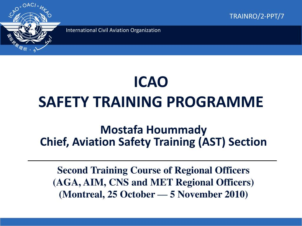 icao safety training programme l.