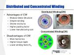distributed and concentrated winding