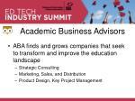 academic business advisors