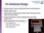 on edugame design