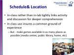 schedule location