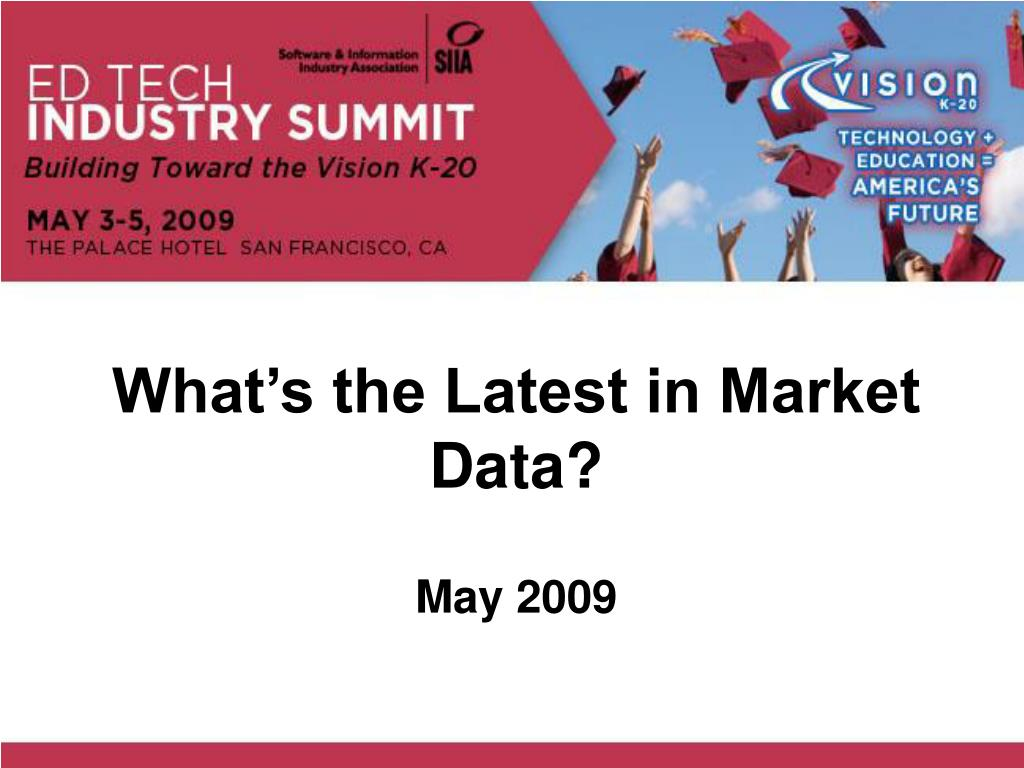 what s the latest in market data l.