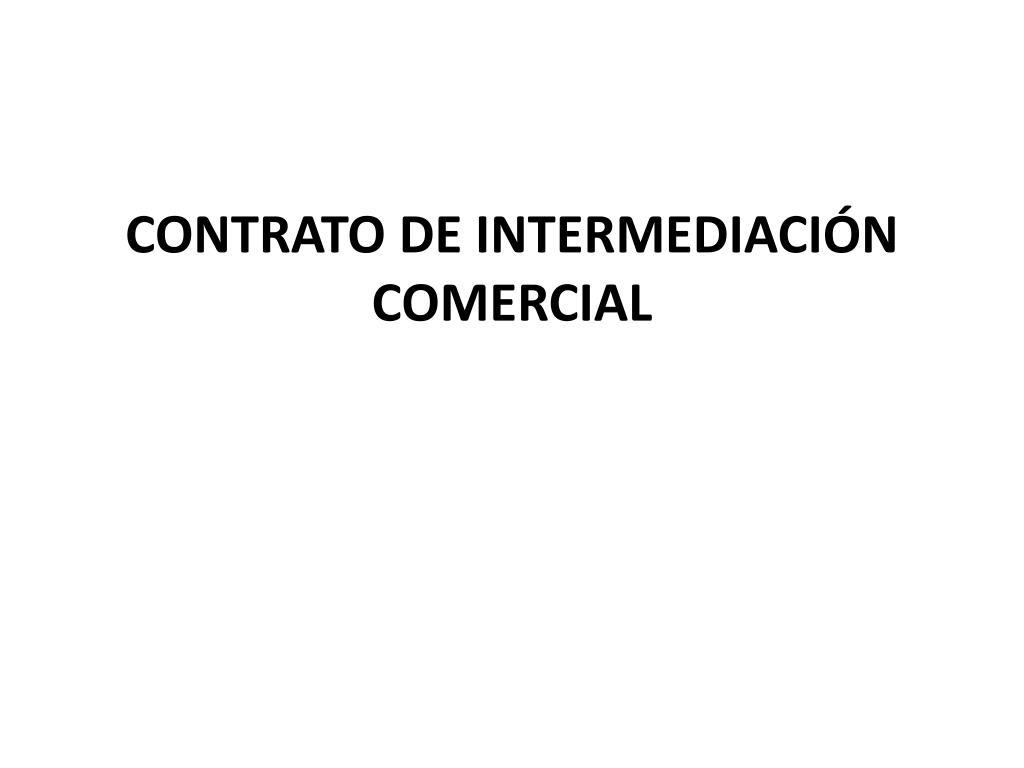 contrato de intermediaci n comercial l.