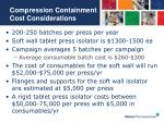 compression containment cost considerations