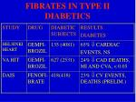 fibrates in type ii diabetics