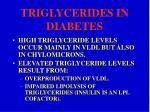 triglycerides in diabetes