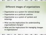 different images of organizations