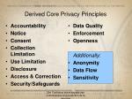 derived core privacy principles
