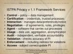 istpa privacy v 1 1 framework services