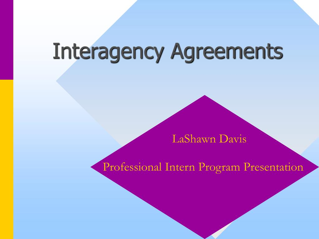 interagency agreements l.