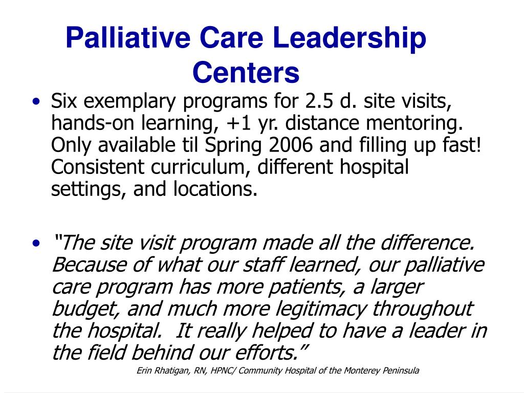 Palliative Care Leadership Centers