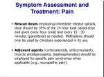 symptom assessment and treatment pain