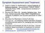 symptom assessment and treatment46