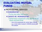 evaluating mutual funds