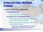 evaluating mutual funds16