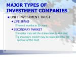 major types of investment companies6