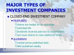 major types of investment companies8