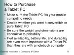 how to purchase a tablet pc