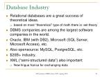 database industry