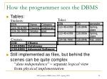 how the programmer sees the dbms24