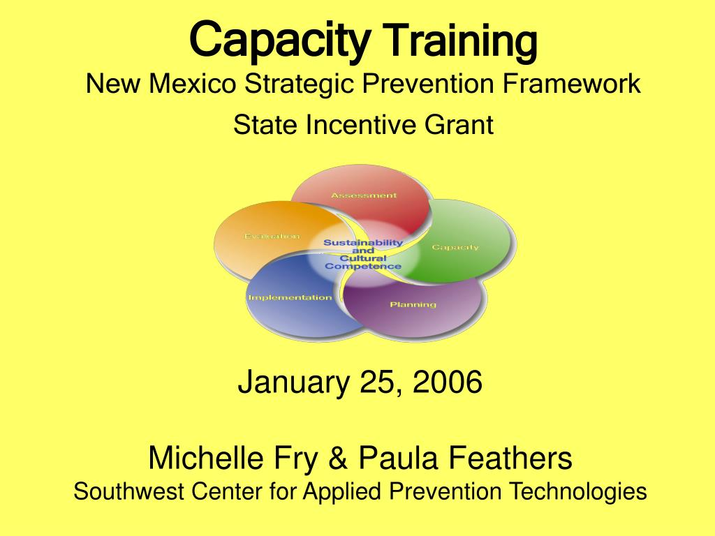 capacity training new mexico strategic prevention framework state incentive grant l.