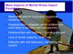 many aspects of mental illness impact parenting