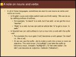 a note on nouns and verbs16
