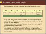sentence construction origin119