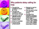 why patients delay calling for help
