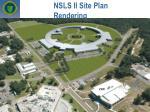 nsls ii site plan rendering