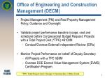 office of engineering and construction management oecm