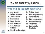the big energy question
