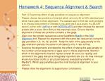 homework 4 sequence alignment search