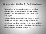 households unable to be interviewed