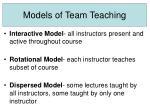 models of team teaching