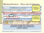 blocked invoices price out of tolerance