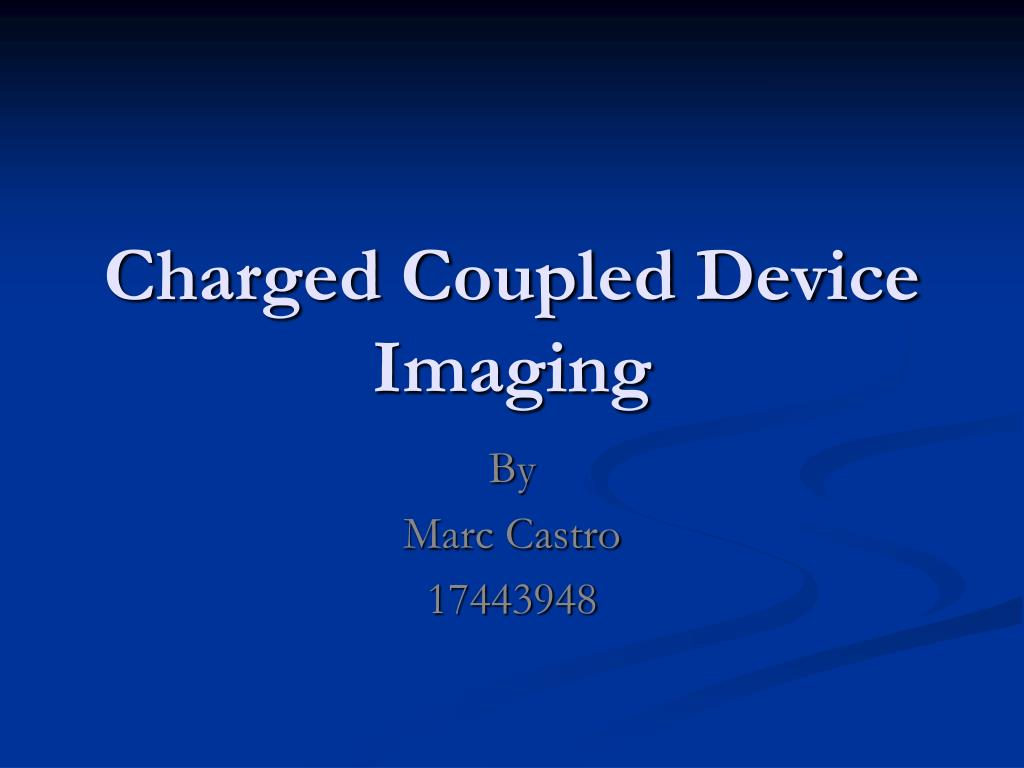 charged coupled device imaging l.