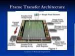 frame transfer architecture