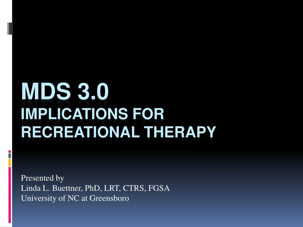 presented by linda l buettner phd lrt ctrs fgsa university of nc at greensboro l.