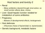 host factors and toxicity 2