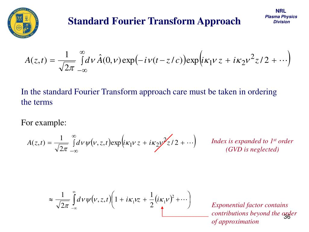 Standard Fourier Transform Approach