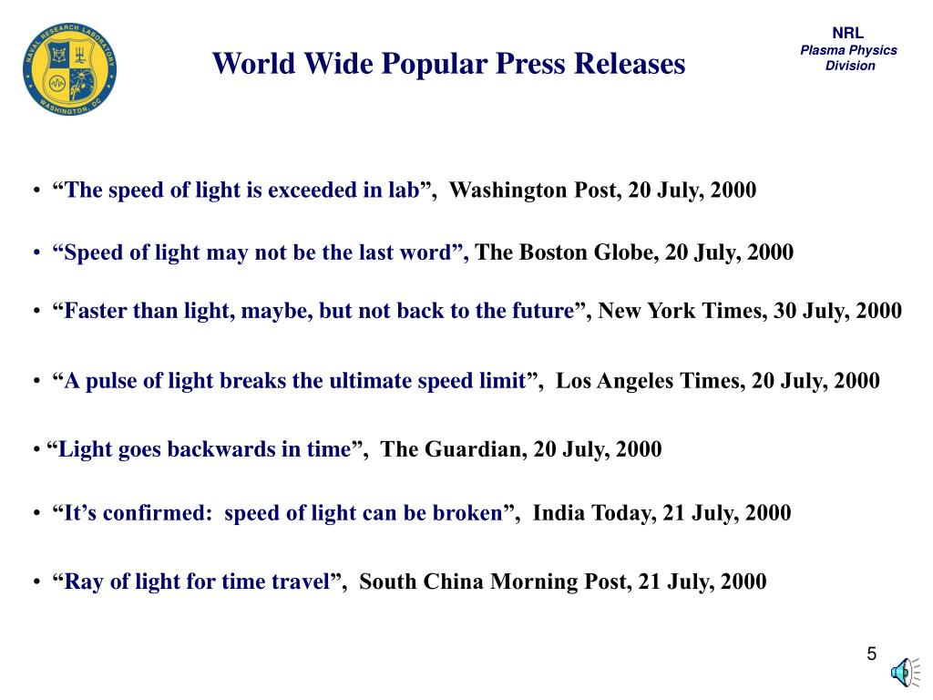 World Wide Popular Press Releases