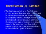 third person c limited