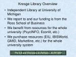 kresge library overview