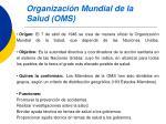 organizaci n mundial de la salud oms