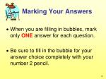 marking your answers1